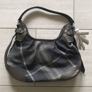 Burberry Blue And Silver Tote Bag